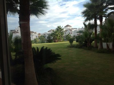 Photo for Luxury apartment with a large terrace , seeview and view on the golfcourse