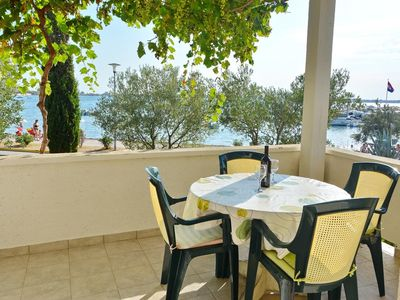 Photo for Two bedroom apartment near beach Vrsi - Mulo, Zadar (A-12519-a)