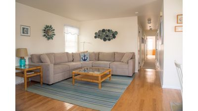 New sectional sofa and updated decor.