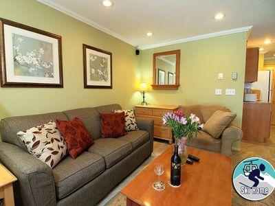 Photo for Cozy one bedroom condo on the shuttle route & ski back trail