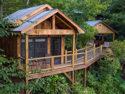Photo for Looking for a unique experience? Check out this cabin with two tree houses!