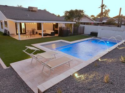 Photo for Quiet Scottsdale Kierland home with HEATED POOL*, jacuzzi, close to everything!