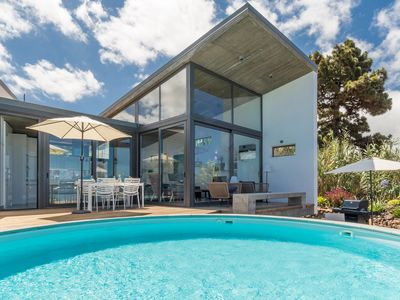 Photo for New: architect villa with private pool and clear Atlantic view in Puntagorda