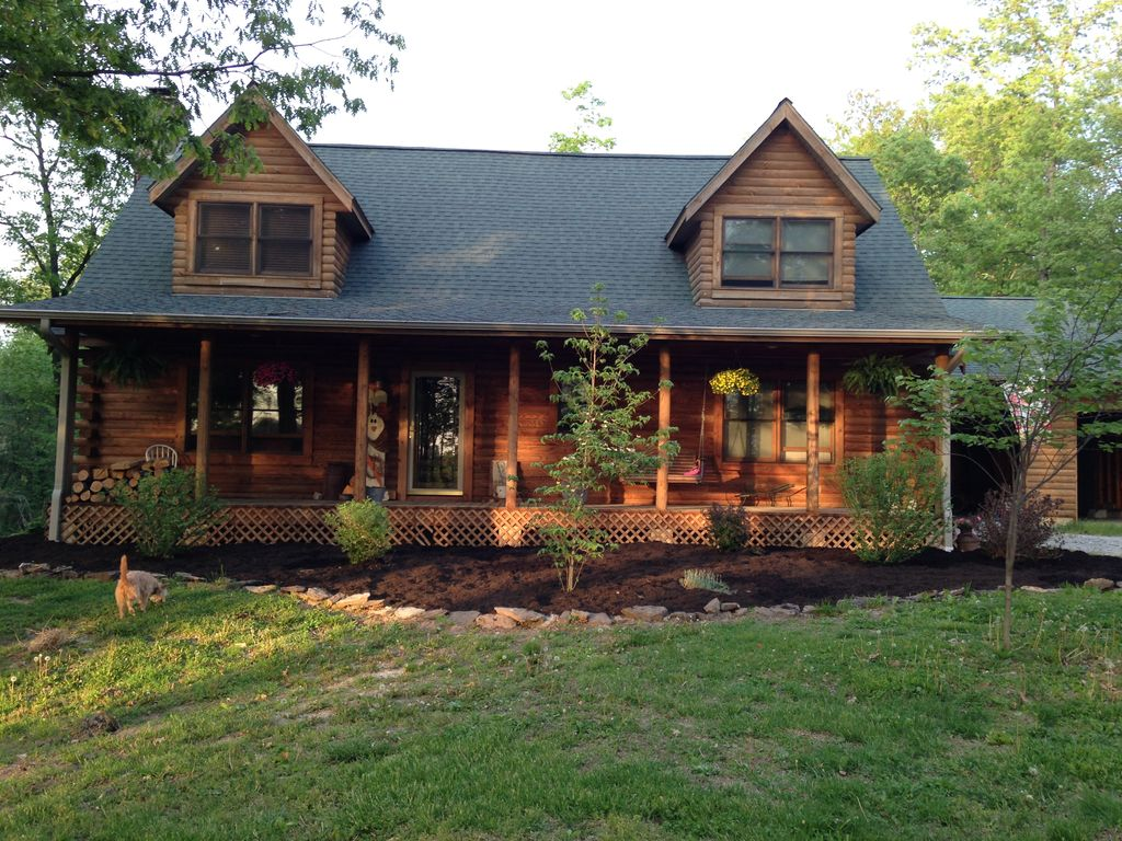 Log Home In The Woods ~ Beautiful log cabin in the woods vrbo