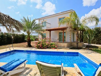 Photo for Villa Nansoula: Large Private Pool, Walk to Beach, A/C, WiFi, Car Not Required, Eco-Friendly