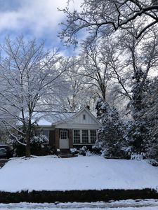 Winter at the cottage with one of Atlanta's RARE snow storms!