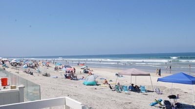 Photo for Ocean Front Del Mar 18th st On the Sand 1st floor 3 bedroom BBQ wifi Garage