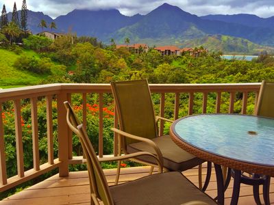 Photo for Hanalei Bay Vacation Home, Waterfall and Ocean Views walk to beach, Princeville
