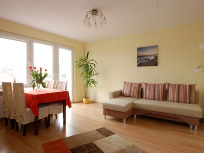 Photo for nice2stay VisitOliwa is a 2 rooms apartment with balcony situated on 4th floor.