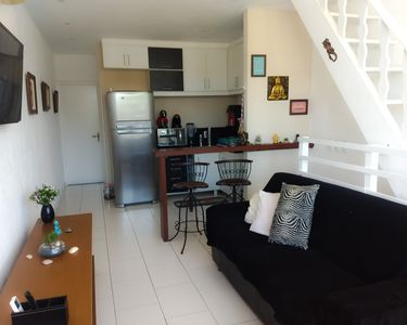 Photo for Air-conditioned house, near Geribá beach, 2 qts, open terrace!