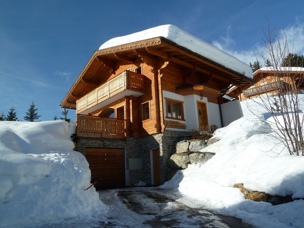 Chalet at 1500m in Anzere ski resort (www.anzere.ch), Swiss Alps with great  view