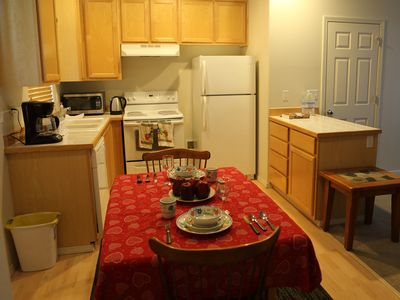 Fully equipped kitchen with working appliances