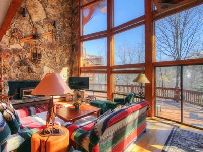 Photo for Closest LARGE Cabin to Sundance! Floor to ceiling windows - gorgeous getaway!!