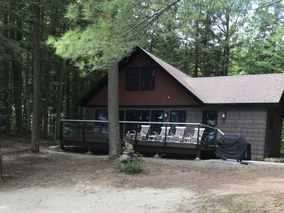 Photo for Lakefront home w/ private deck, kayaks, & firepit - close to skiing & hiking!
