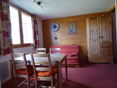 Photo for Very nice studio beautiful Plagne 2050 m in the heart of the slopes