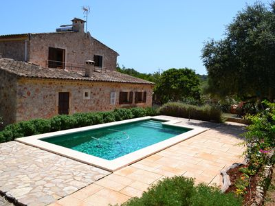 Photo for Secluded Mallorcan house with pool and free WI-FI connection for 6 people
