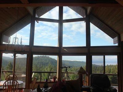 Photo for New Listing! Exclusive 10 acres atop Cady Mnt. View of Ocean & Vancouver Island