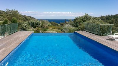 Photo for Villa Cavalaire Sur Mer Near St Tropez, few minutes walk to Beach and Port, Pool