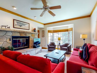 Photo for 2nd floor charming escape w/ shared pool, balcony, gas fireplace