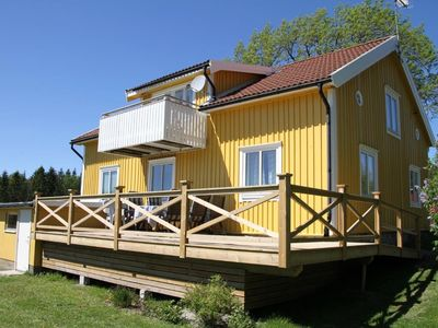 Photo for Landhaus Kornsjön, ALLEINLAGE, 2,5 ha, 2Boats m. Motor, jetty, Wi-Fi phone's. Badeinse
