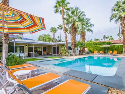 Photo for Luxury Mid-century Home in Movie Colony +Pool & Spa+Mtn Views