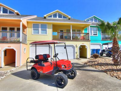 Photo for Sunny and Chairs: Pool, Boardwalk to Beach, Golf Cart Included, Ocean Breezes