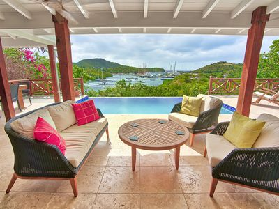 Luxury villa in fantastic location with stunning view over English Harbour.
