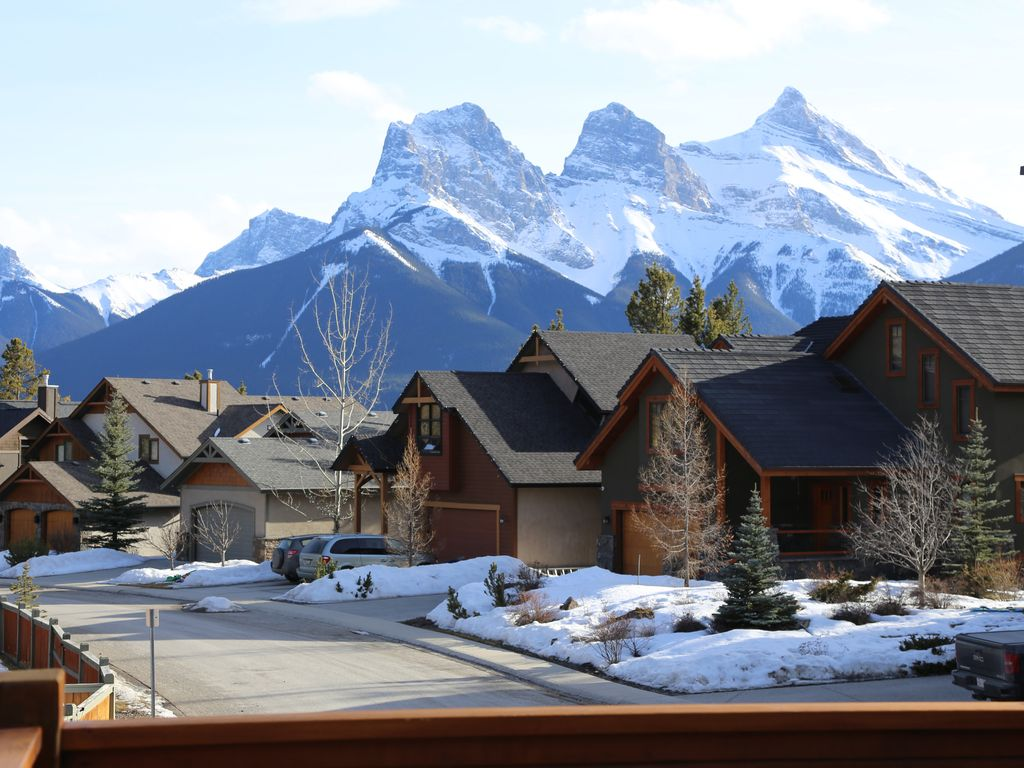 Image result for canmore alberta restaurants with snow mountain
