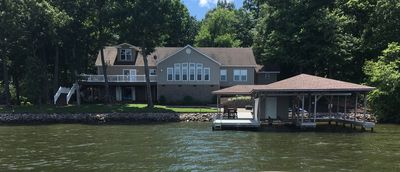 Photo for Private 200ft. + waterfrontage. Handicap ramp/bath. 10ft deep water off dock.