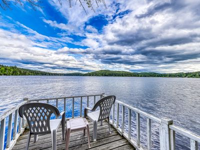 Photo for NEW LISTING! Lakefront cottage with screened gazebo, dock, 2 acres of space