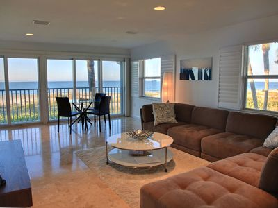 Photo for On the beach! Luxury gulf front condo, 2B/2B, pool, tennis, WiFi. Amazing view.