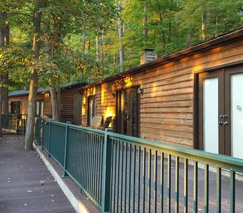 Cabins of Kelly Mountain in Elkins, West Virginia.  Great morning light!