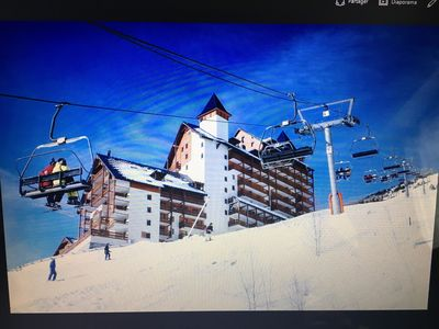 Photo for Pleasant T3 with balcony, ski with the feet - THE TWO ALPES 4/6 people