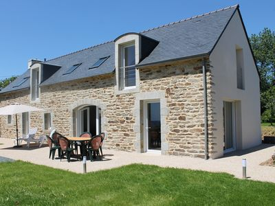 Photo for Concarneau, Breton house renovated to new, superb sea view, beaches on foot