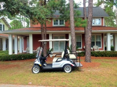 Rental of the Home includes the Complimentary use of this Golf Cart