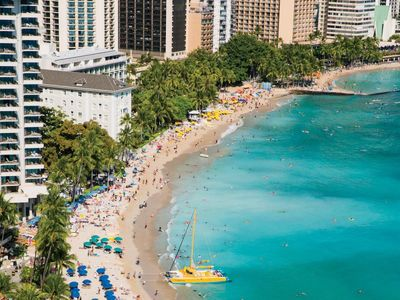 Photo for Ultimate Waikiki Getaway! Lovely 2BR Suite, Pool, Walk to the Beach
