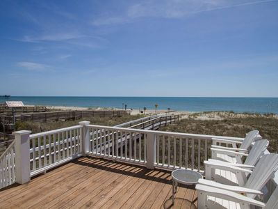 Photo for Bring the entire Family! Beach Front, Private Beach Access, 4 Balconies with Amazing Ocean Views