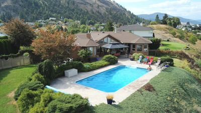 Photo for Panoramic lake views with private (heated) pool !!