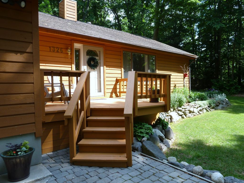enjoy the sounds of nature and lake access homeaway traverse city