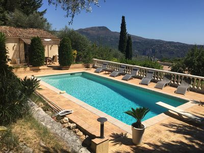 Photo for STUDIO INDEPENDENT POOL VILLA (4 PEOPLE) FRENCH RIVIERA NICE - PANORAMIC SEA VIEW