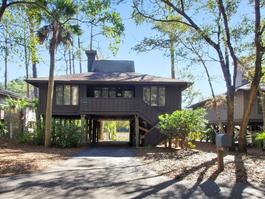 Pet Friendly Inlet Cove Cottage With Partial River Views Community Pool Seabrook Island