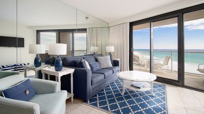 Open Concept Living Area with Gulf View