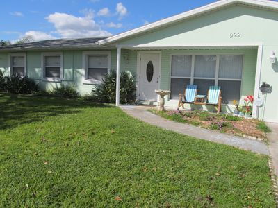 Photo for Furnished 4/2 home on water & quiet street. Close to intracoastal/restaurants