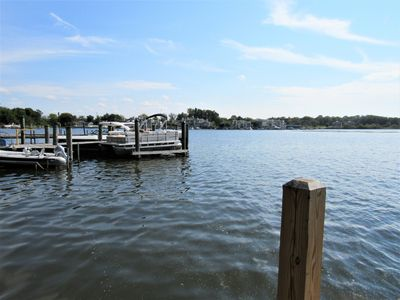 Photo for Waterfront cottage with private dock - walk to downtown Saugatuck!