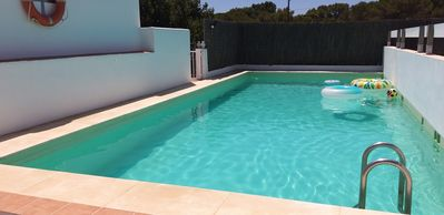 Photo for SUNNY HOUSE, GARDEN, SWIMMING POOL, 1 MINUTES FROM FOUR BEACHES WALKING