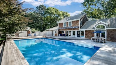 Photo for Beautiful beach house, heated saltwater pool, minutes to ocean beach & village