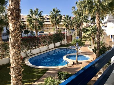 Photo for Lovely Modern 2 Bed, 2 Bathroom Aircon Apartment in Playa Flamenca
