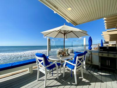 Photo for OCEAN VIEW & BEACHFRONT! 4 bedrooms, 2 Fireplaces! Paradise!- Beach Road Retreat