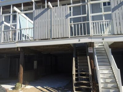 Bayside rear of unit, carport and deck