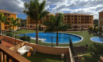Photo for Modern apartment very bright. Oriented to the south. Pool view, WIFI, Garage